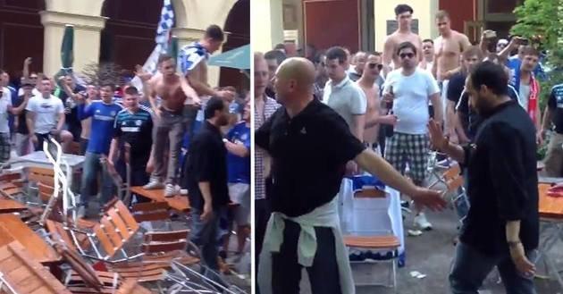 Chelsea fans Munich