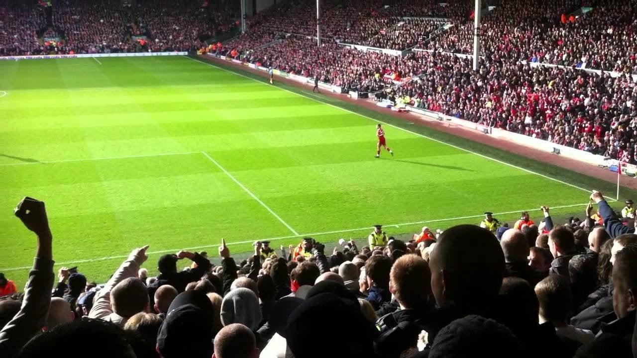 Man Utd fans at Anfield