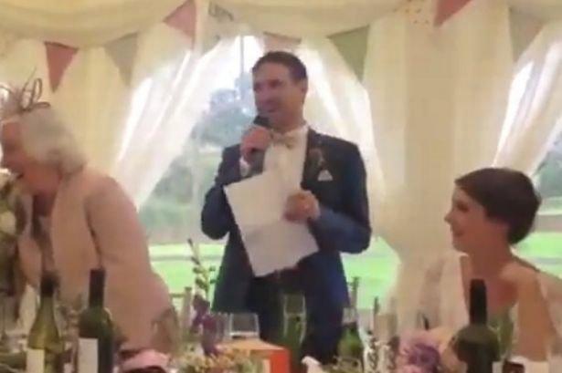Man Utd fan wedding speech