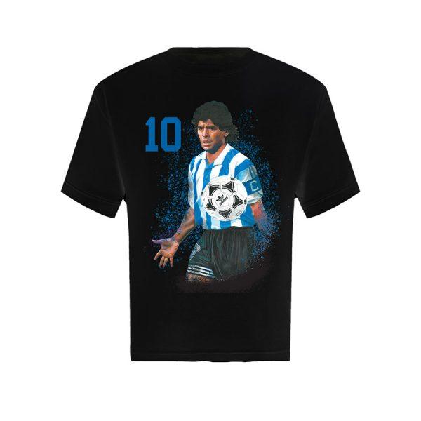 Diego Maradona T Shirt Black